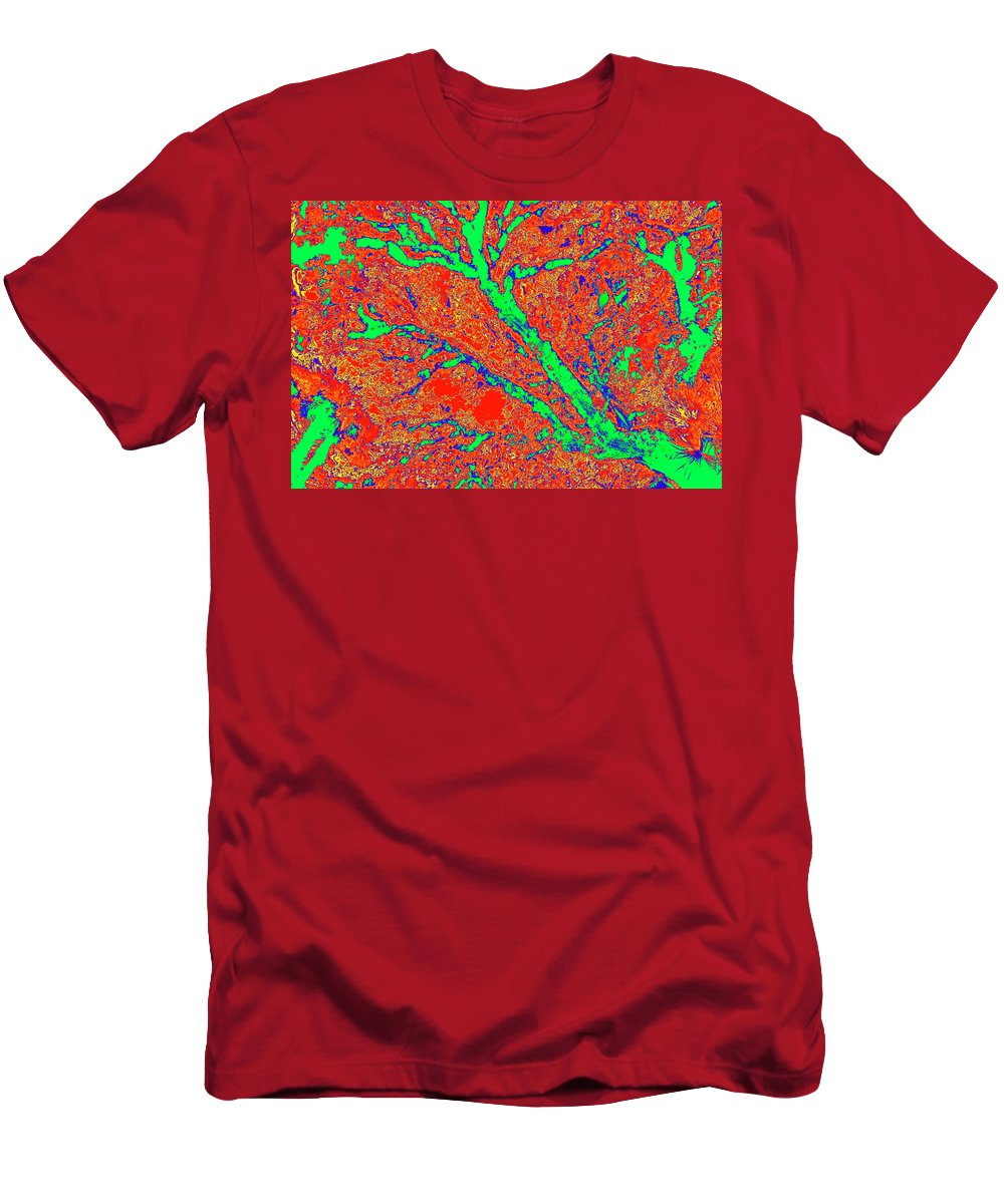 Trees Men's T-Shirt (Athletic Fit) featuring the photograph Arboreal Plateau 15 by Gary Bartoloni