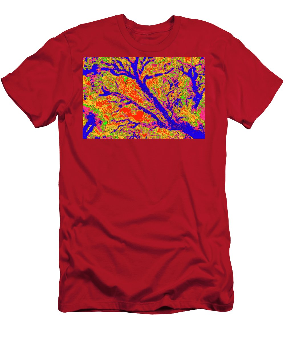 Trees Men's T-Shirt (Athletic Fit) featuring the photograph Arboreal Plateau 36 by Gary Bartoloni