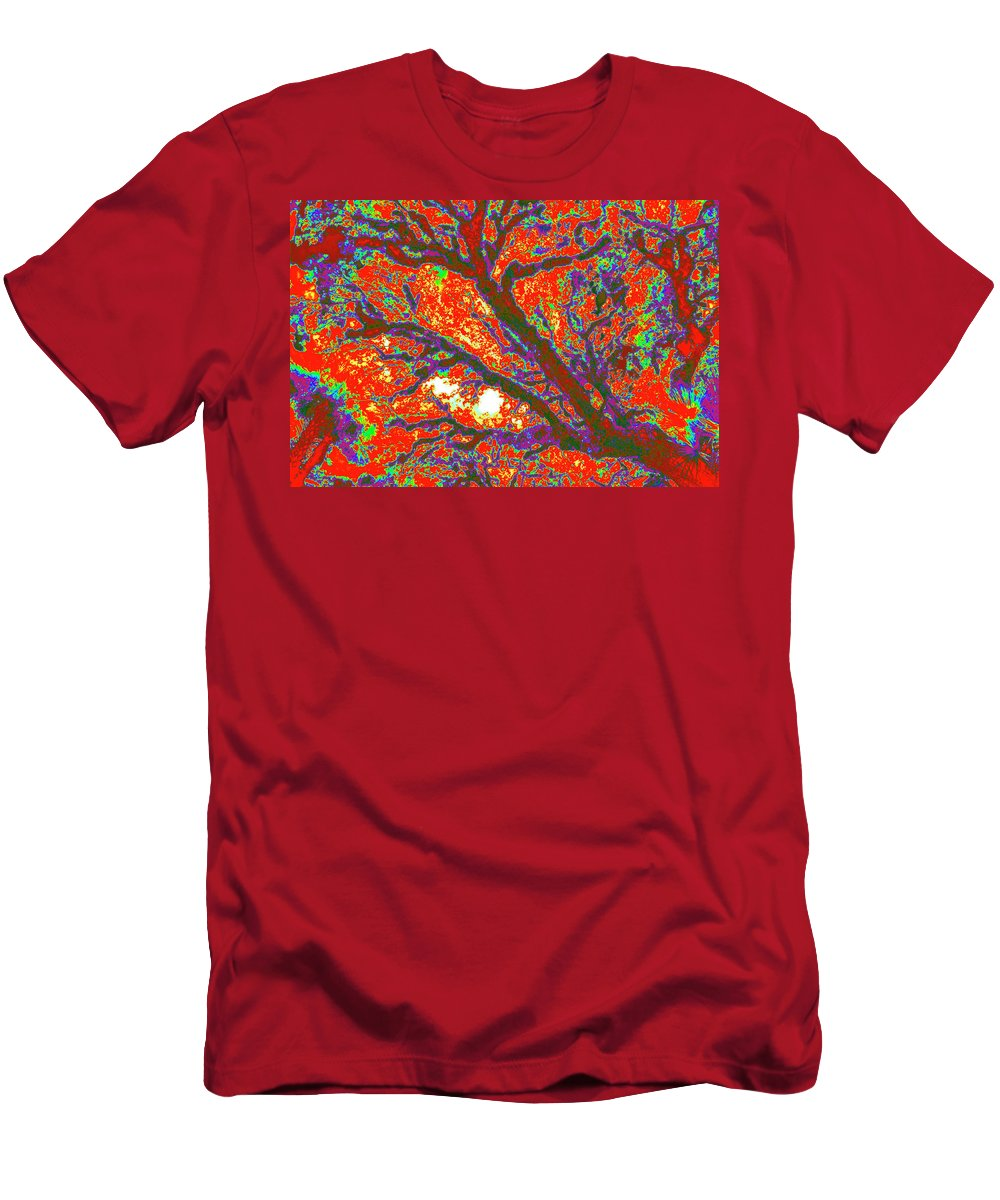 Trees Men's T-Shirt (Athletic Fit) featuring the photograph Arboreal Plateau 44 by Gary Bartoloni