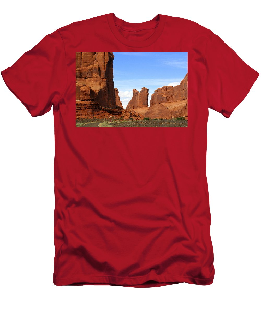 Arches National Park Men's T-Shirt (Athletic Fit) featuring the photograph Arches Park 2 by Marty Koch