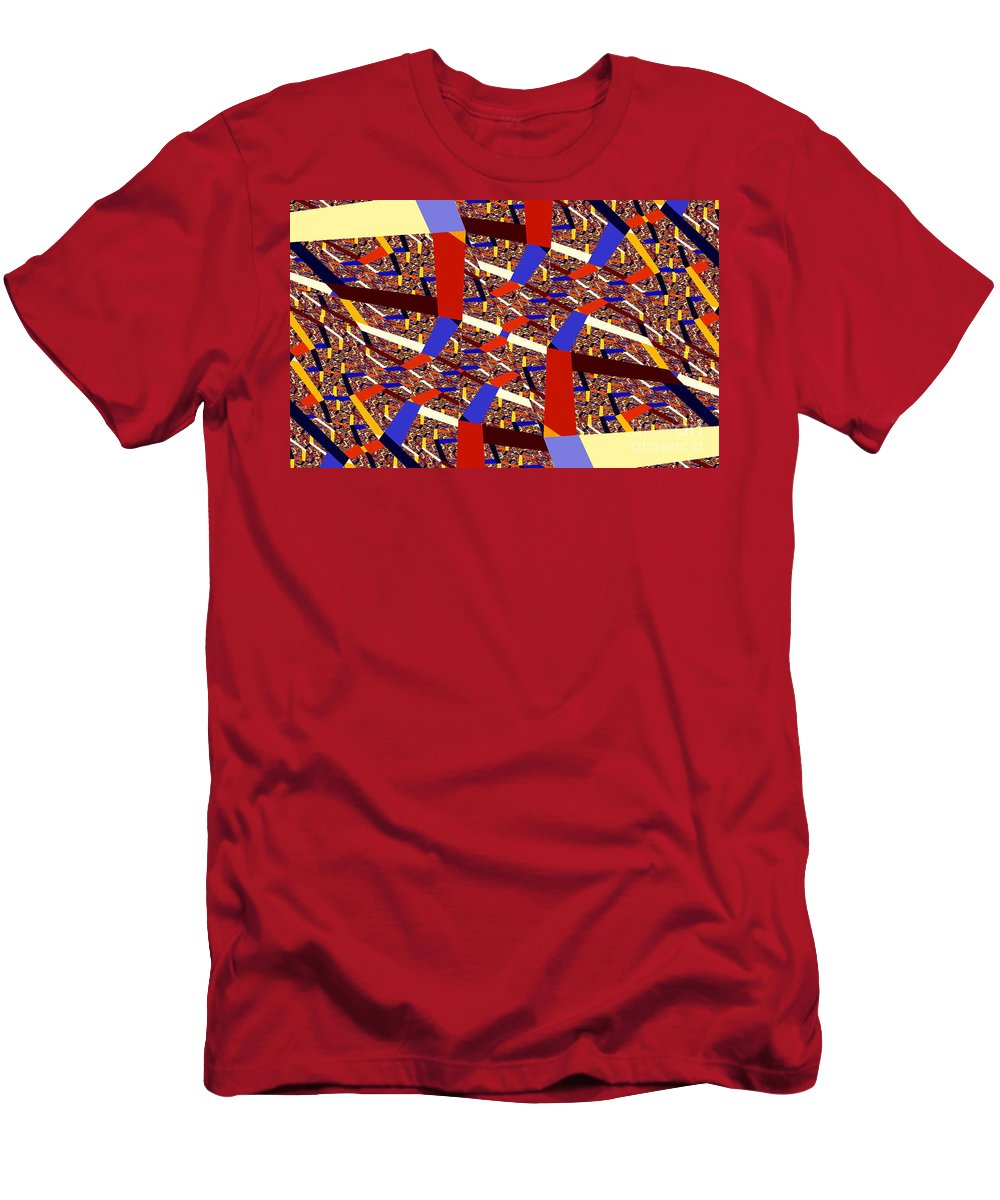 Clay Men's T-Shirt (Athletic Fit) featuring the digital art Atomic Link by Clayton Bruster