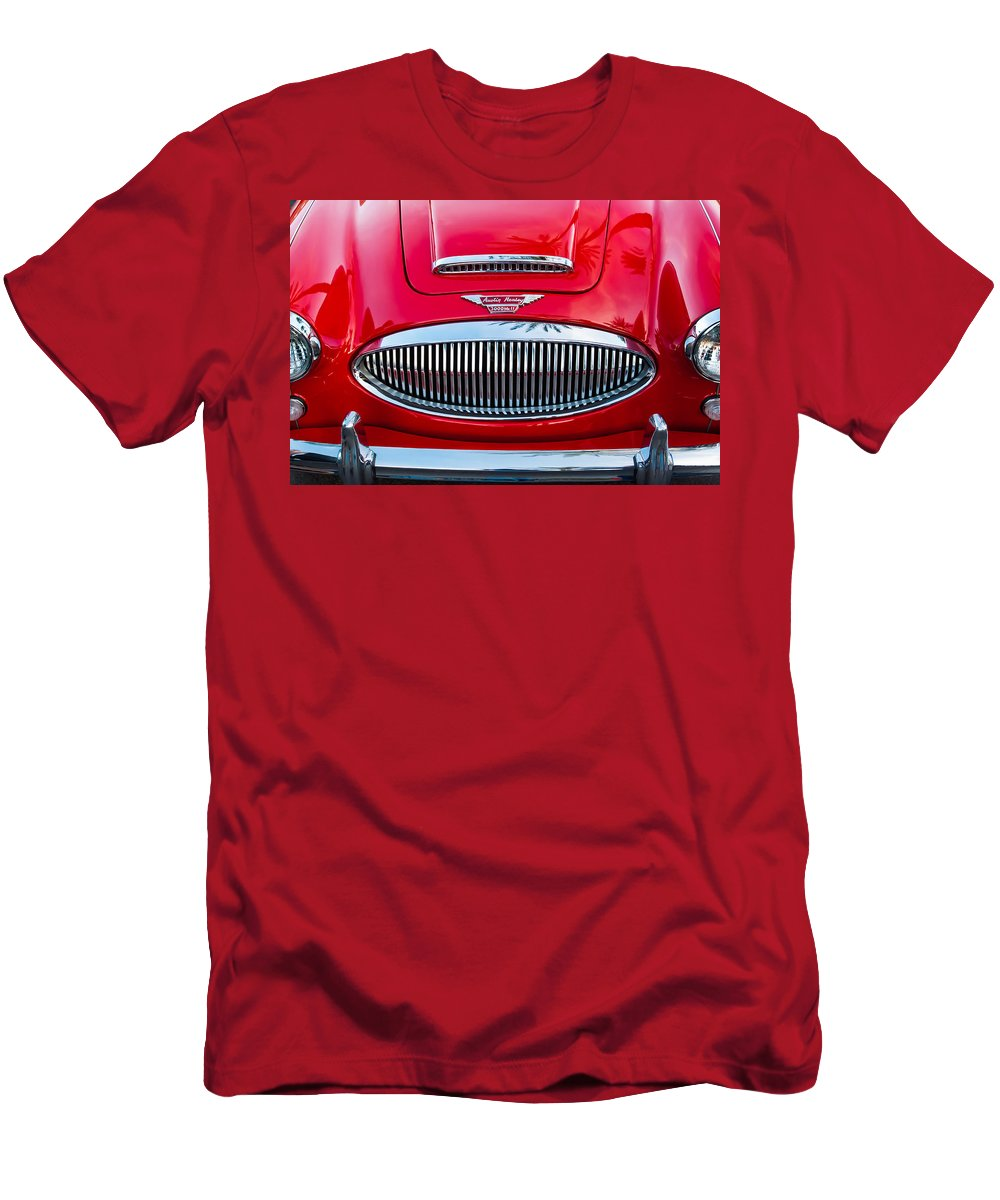 Austin Healey 3000mk Ii Grille Men's T-Shirt (Athletic Fit) featuring the photograph Austin-healey 3000mk II by Jill Reger