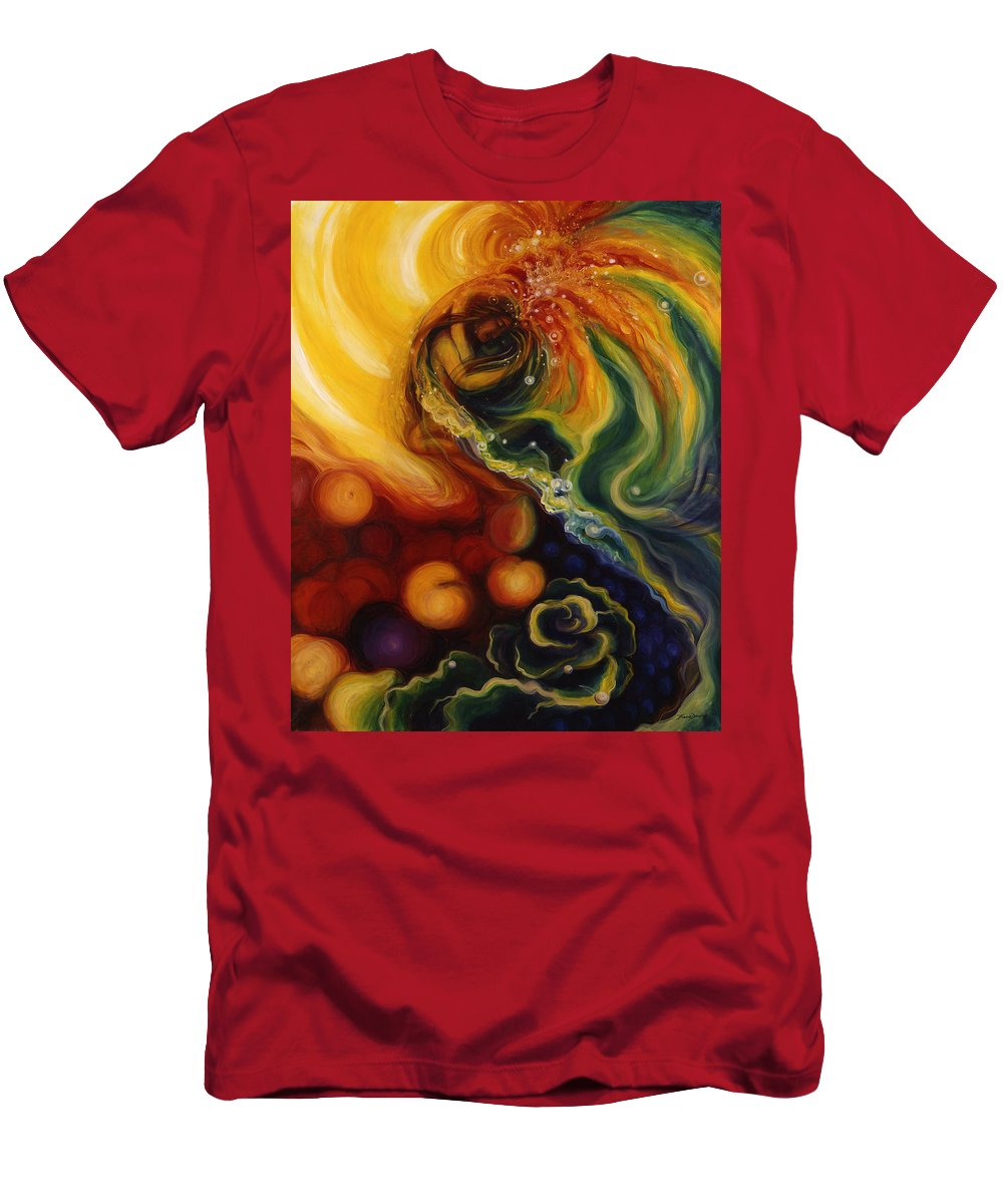 Horizontal Painting Men's T-Shirt (Athletic Fit) featuring the painting Autuminal Marriage Celebration by Diana Dunlap