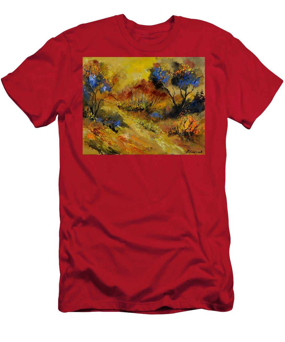 Landscape T-Shirt featuring the painting Autumn 546190 by Pol Ledent