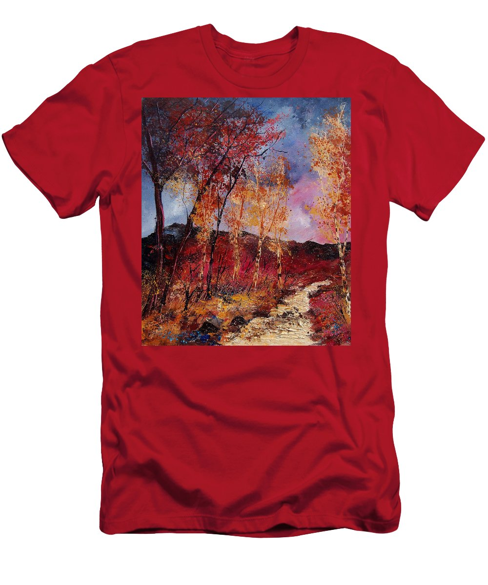 Tree Men's T-Shirt (Athletic Fit) featuring the painting Autumn 6712545 by Pol Ledent