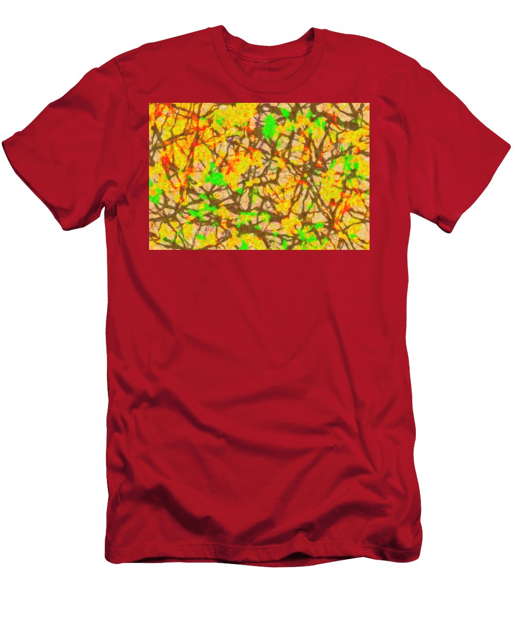 Abstract Men's T-Shirt (Athletic Fit) featuring the digital art Autumn Abstract by SR Green