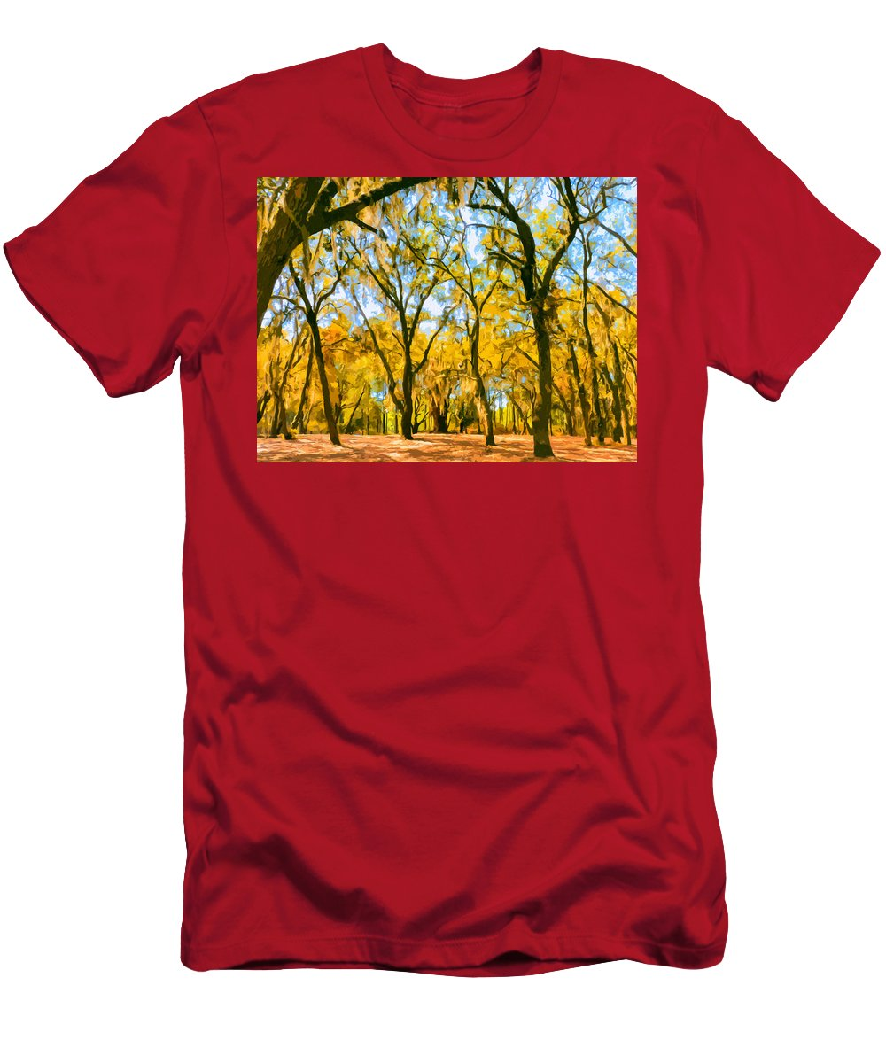 Autumn Men's T-Shirt (Athletic Fit) featuring the painting Autumn Colors by Dominic Piperata