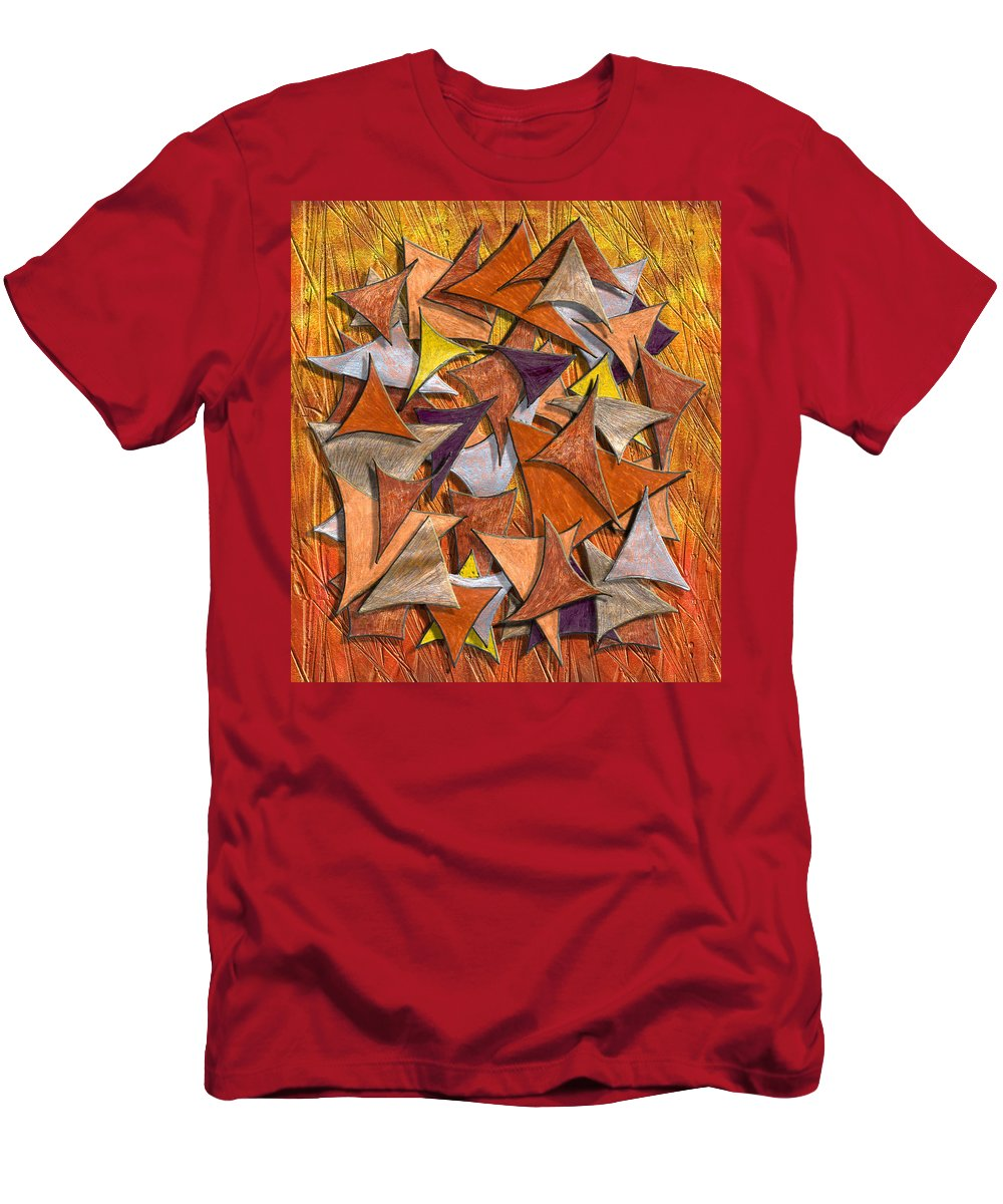 Abstract Digital Art Men's T-Shirt (Athletic Fit) featuring the digital art Autumn Deltas by Mark Sellers