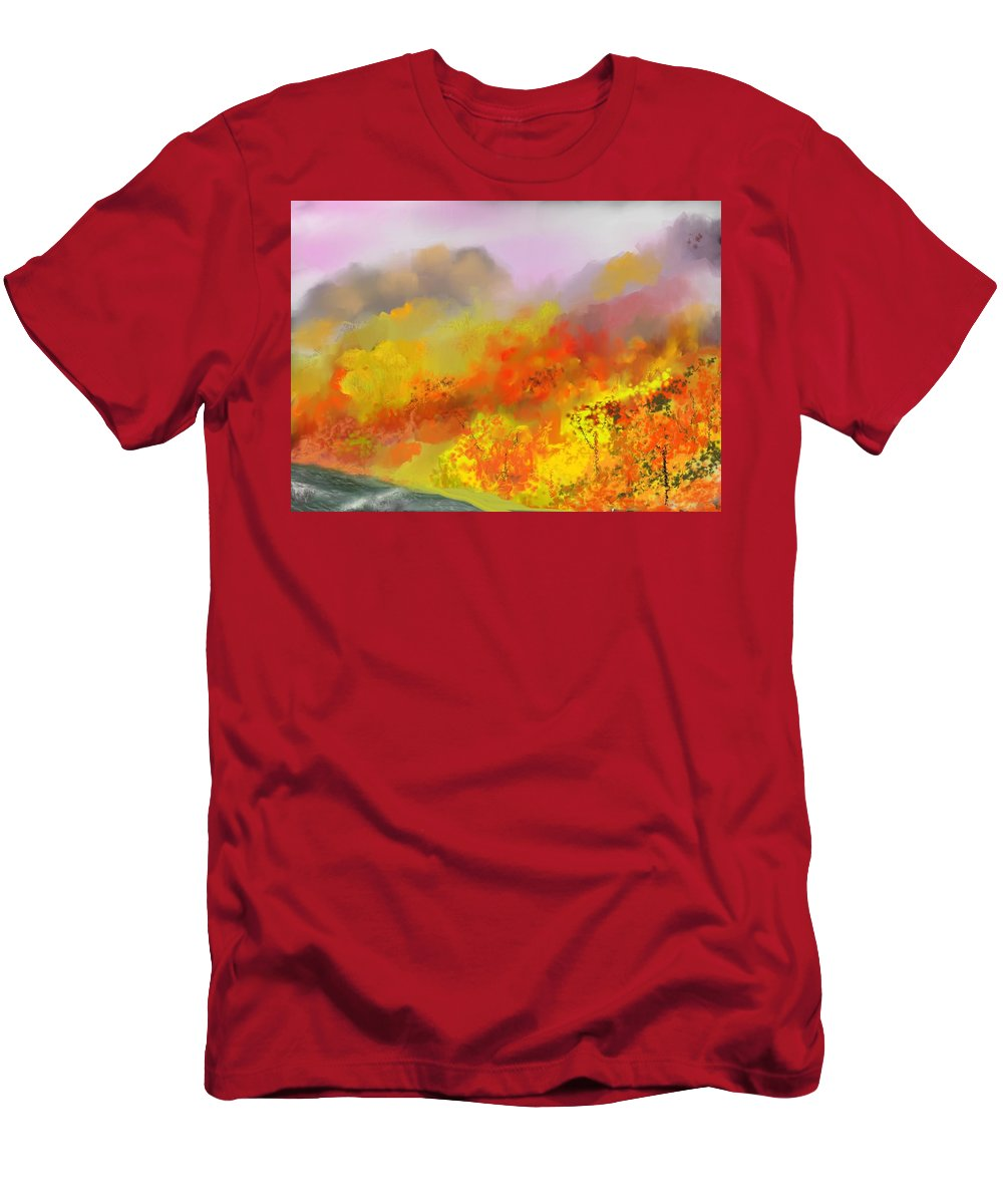 Autumn Men's T-Shirt (Athletic Fit) featuring the digital art Autumn Expression by David Lane