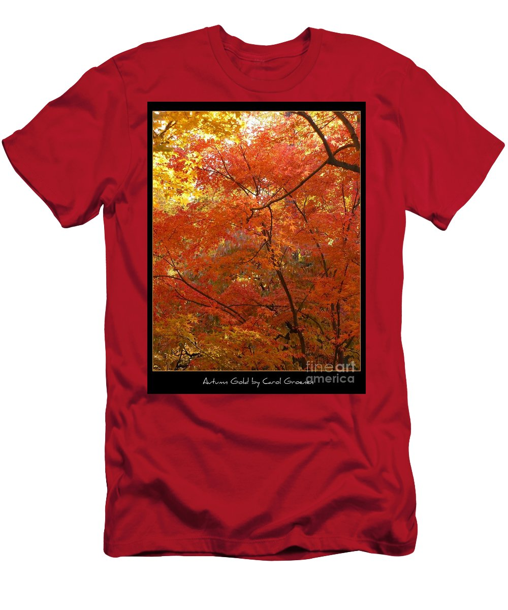 Fall Men's T-Shirt (Athletic Fit) featuring the photograph Autumn Gold Poster by Carol Groenen