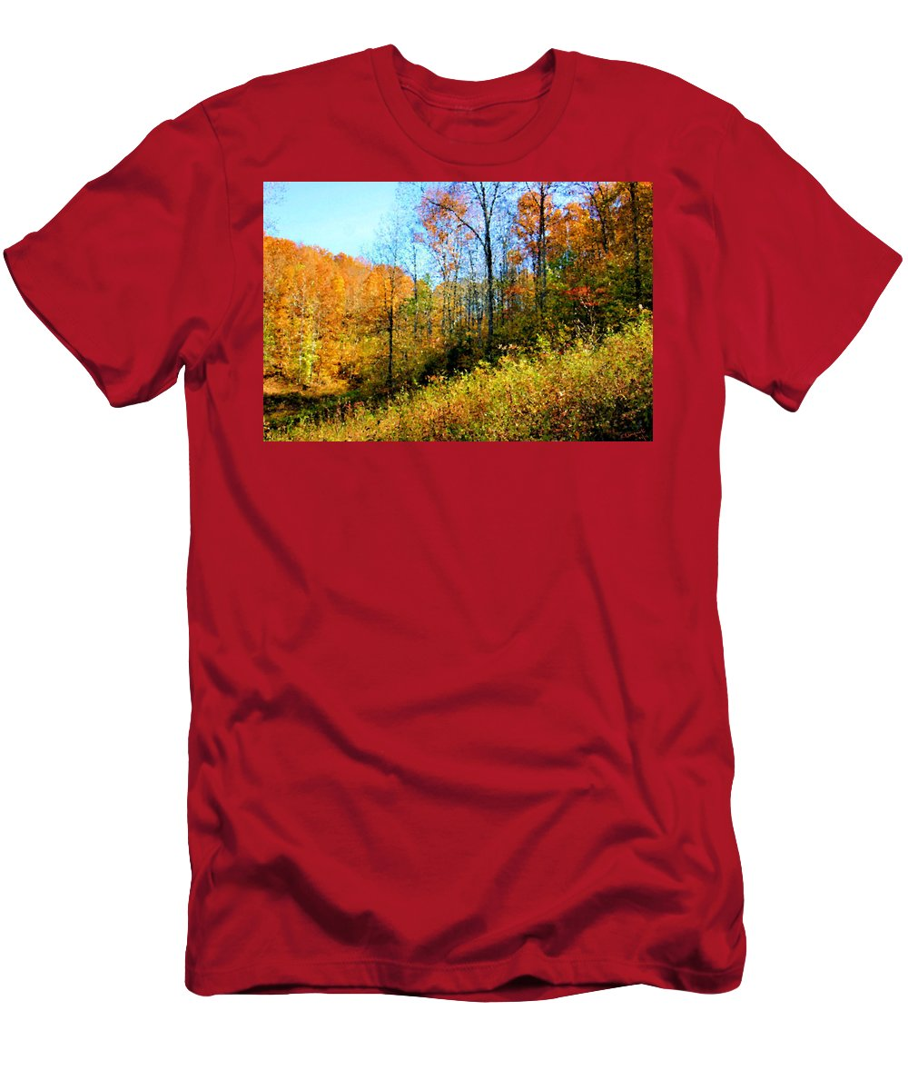 Autumn Men's T-Shirt (Athletic Fit) featuring the photograph Autumn In The Tennessee Hills by Kristin Elmquist