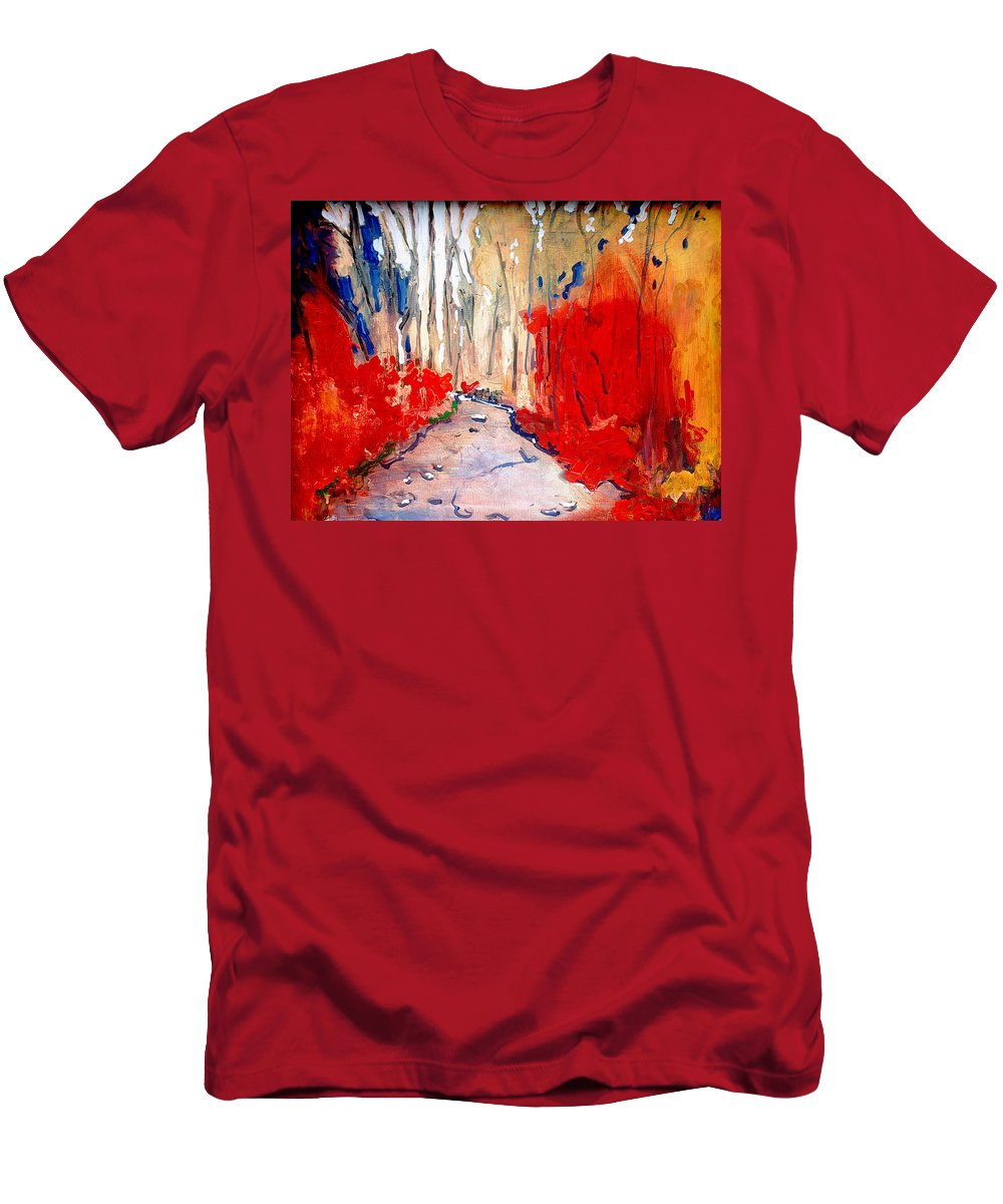 Fall Men's T-Shirt (Athletic Fit) featuring the painting Autumn by Kurt Hausmann