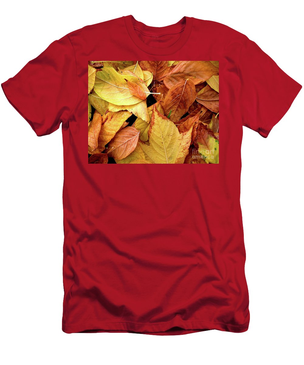 Autumn Men's T-Shirt (Athletic Fit) featuring the photograph Autumn Leaves by Carlos Caetano
