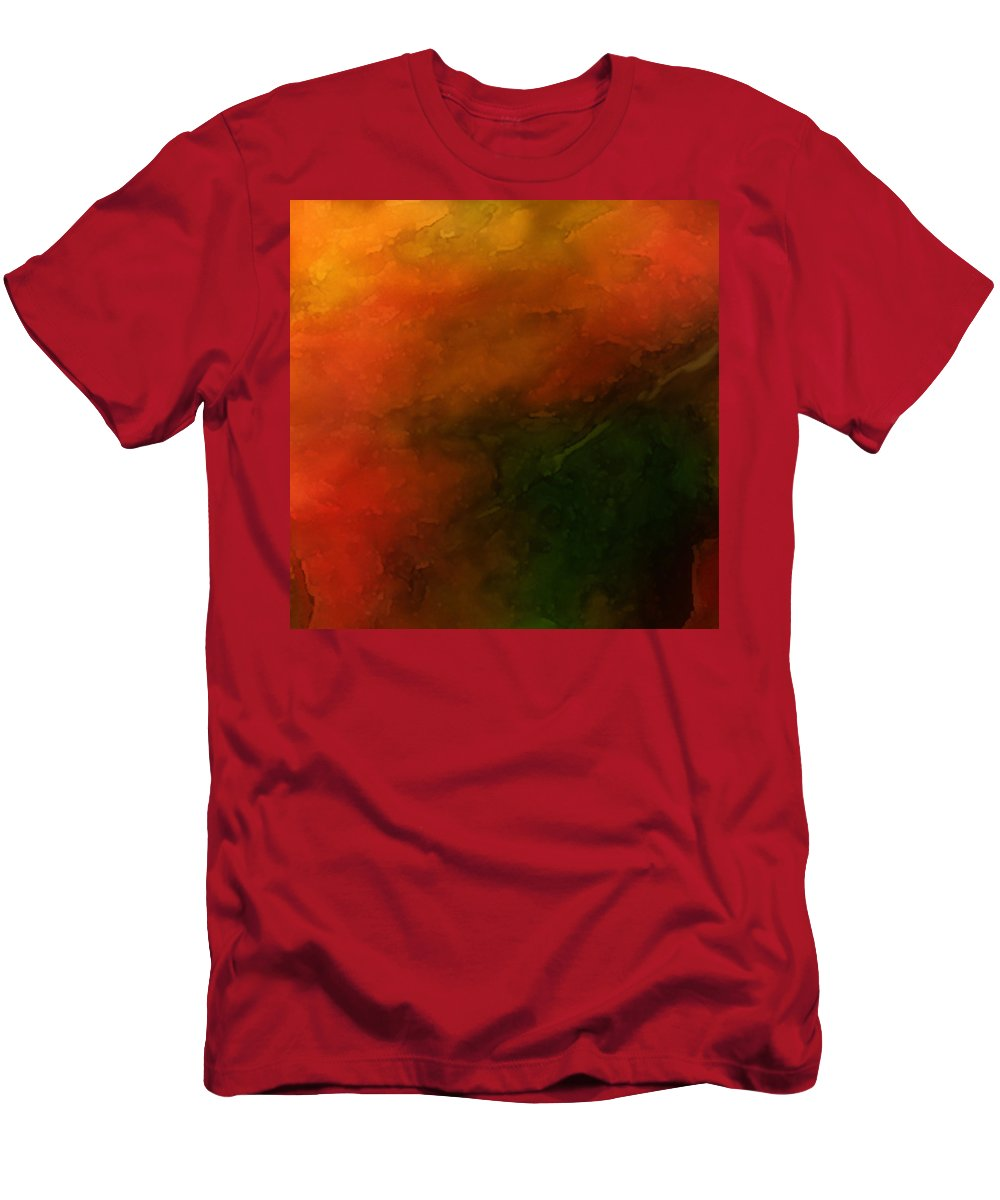 Autumn Men's T-Shirt (Athletic Fit) featuring the mixed media Autumn Moods 3 by Carol Cavalaris