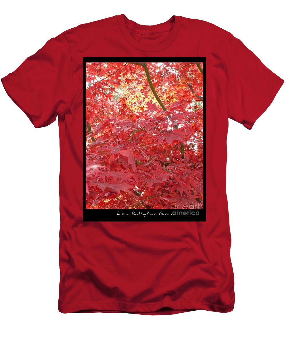 Autumn Men's T-Shirt (Athletic Fit) featuring the photograph Autumn Red Poster by Carol Groenen