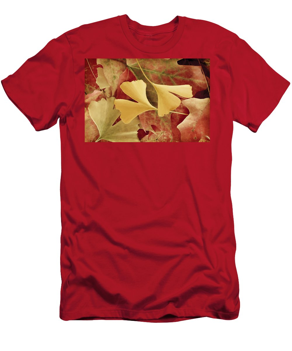 Autumn Men's T-Shirt (Athletic Fit) featuring the photograph Autumn Yellow by Joye Ardyn Durham