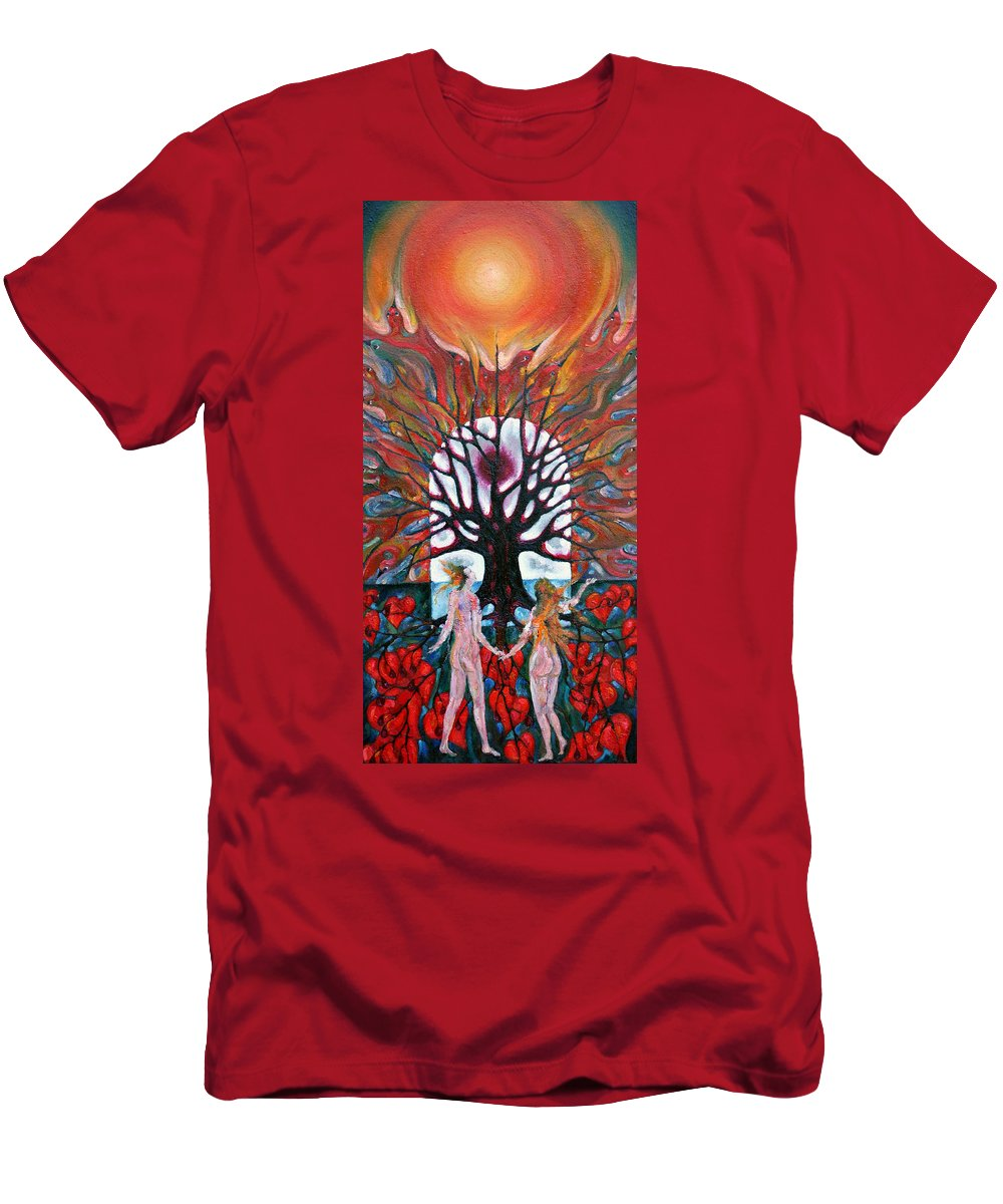 Colour Men's T-Shirt (Athletic Fit) featuring the painting Awakening by Wojtek Kowalski