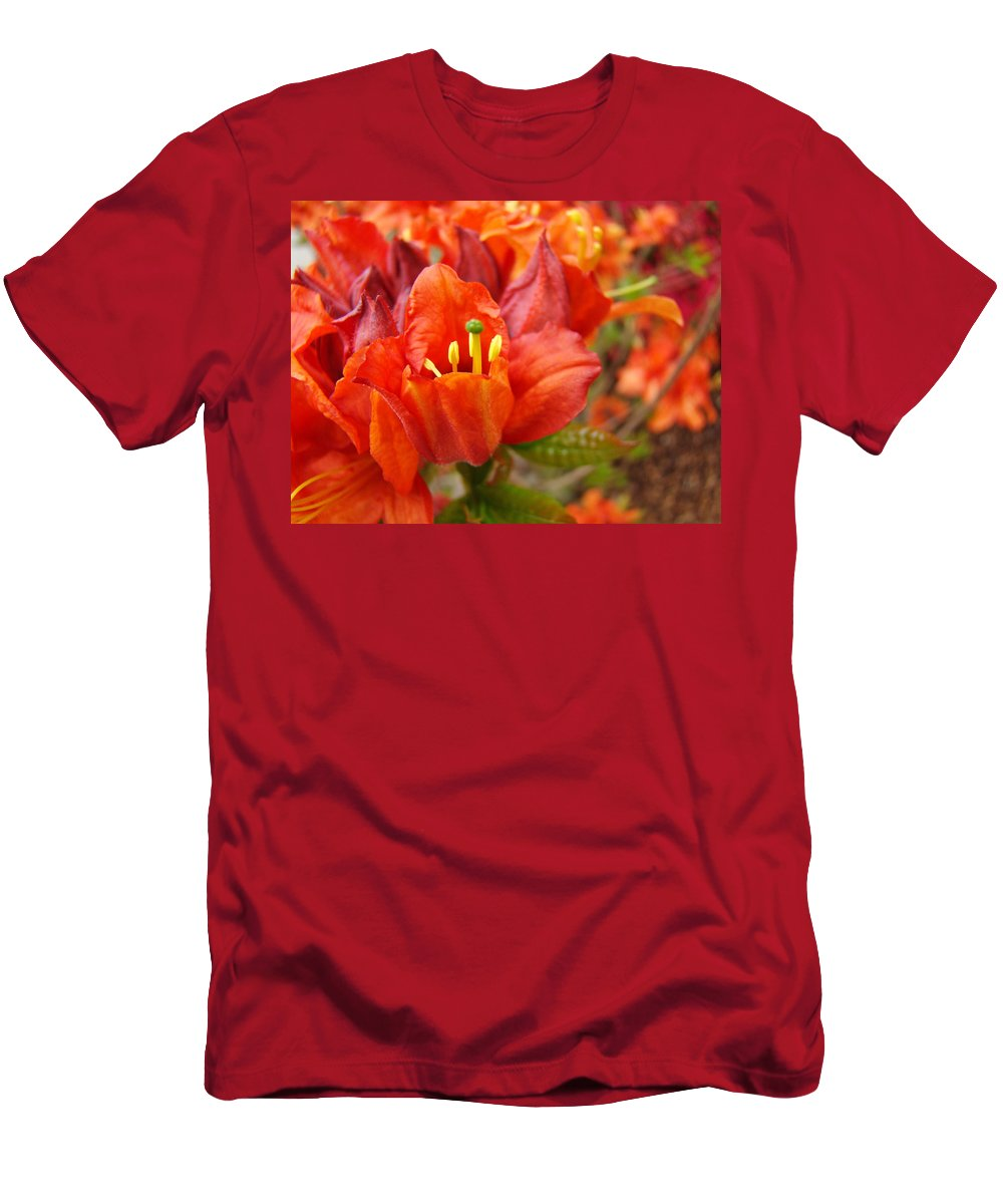 Azalea Men's T-Shirt (Athletic Fit) featuring the photograph Azalea Flowers Art Prints Azaleas Gilcee Art Prints Baslee Troutman by Baslee Troutman
