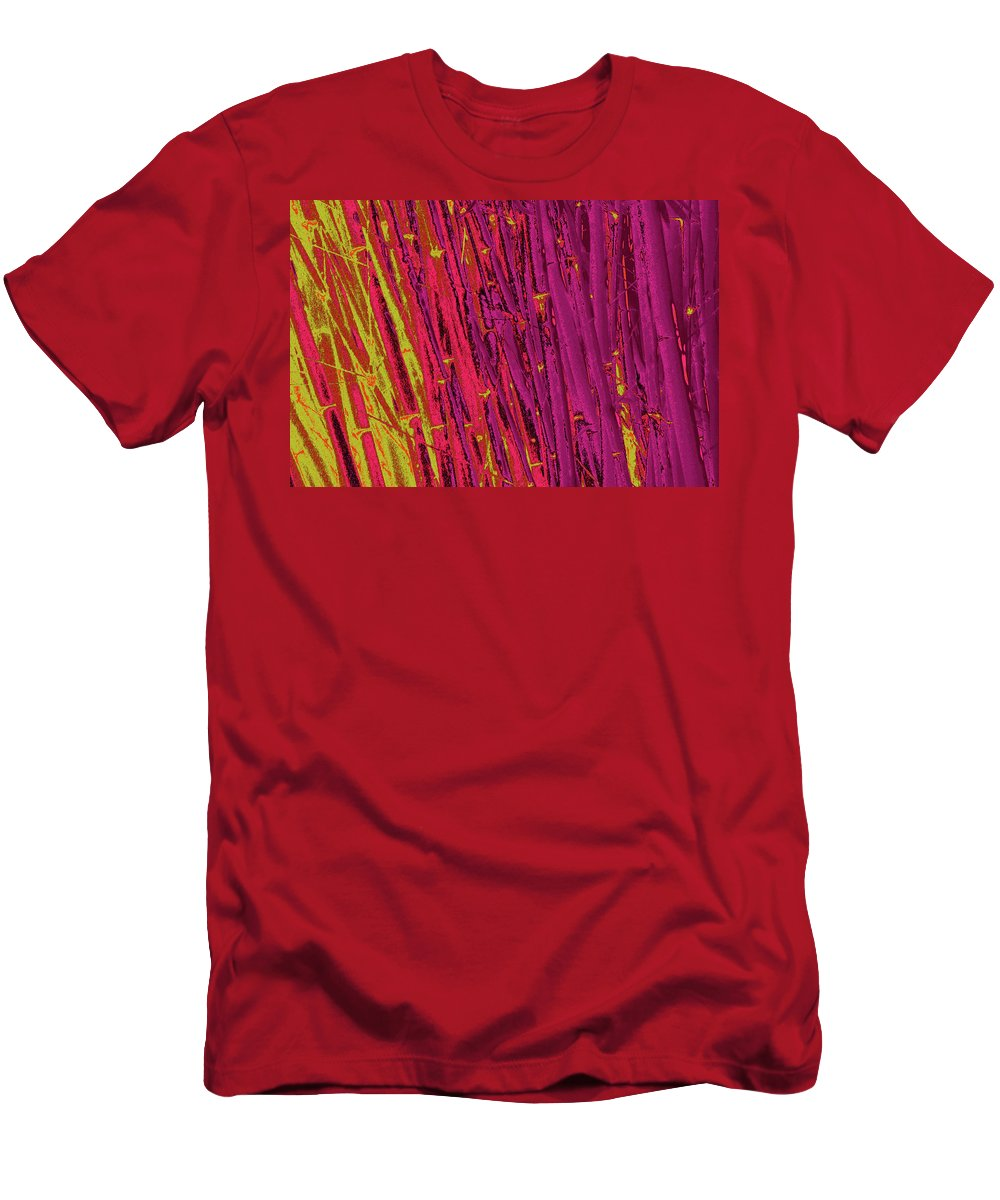 Trees Men's T-Shirt (Athletic Fit) featuring the photograph Bamboo Johns Yard 22 by Gary Bartoloni