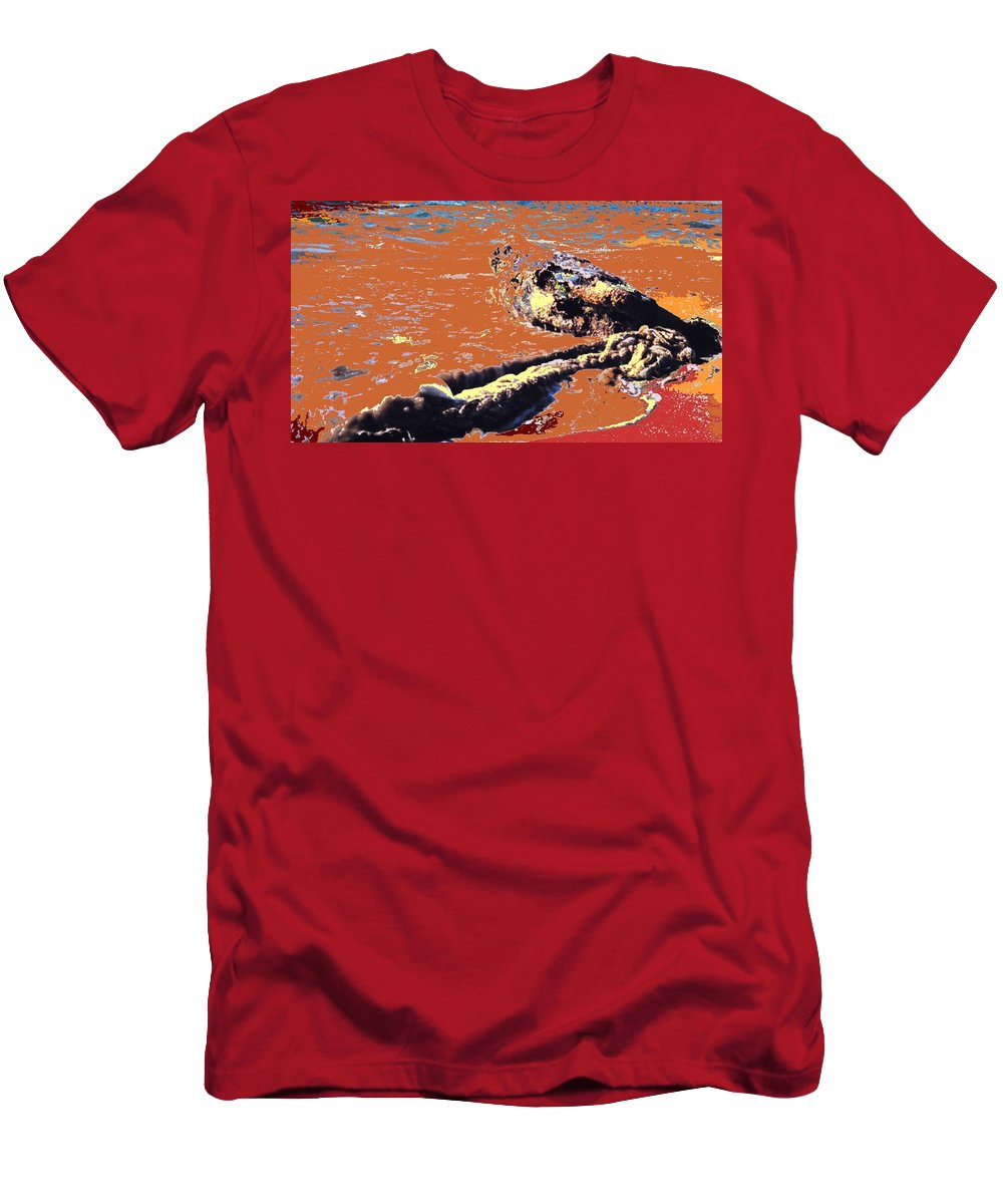 Rope Men's T-Shirt (Athletic Fit) featuring the photograph Beach Rope by Ian MacDonald