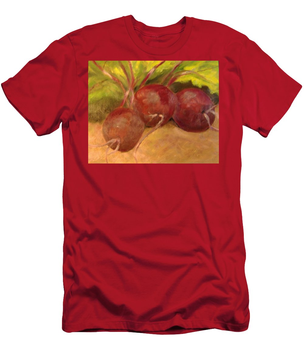 Vegtables Men's T-Shirt (Athletic Fit) featuring the painting Beet It by Pat Snook