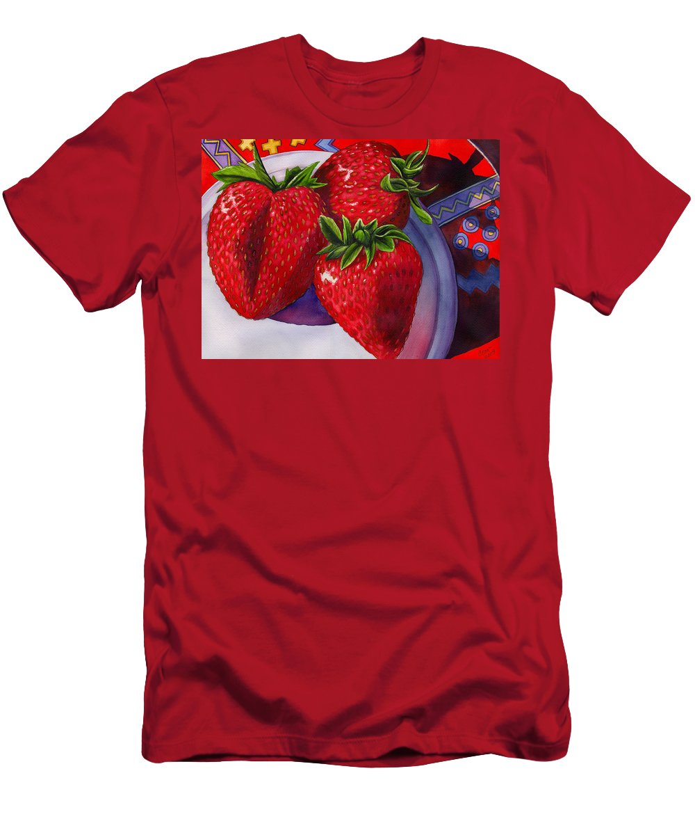 Strawberries T-Shirt featuring the painting Berry Berry Berry Good by Catherine G McElroy