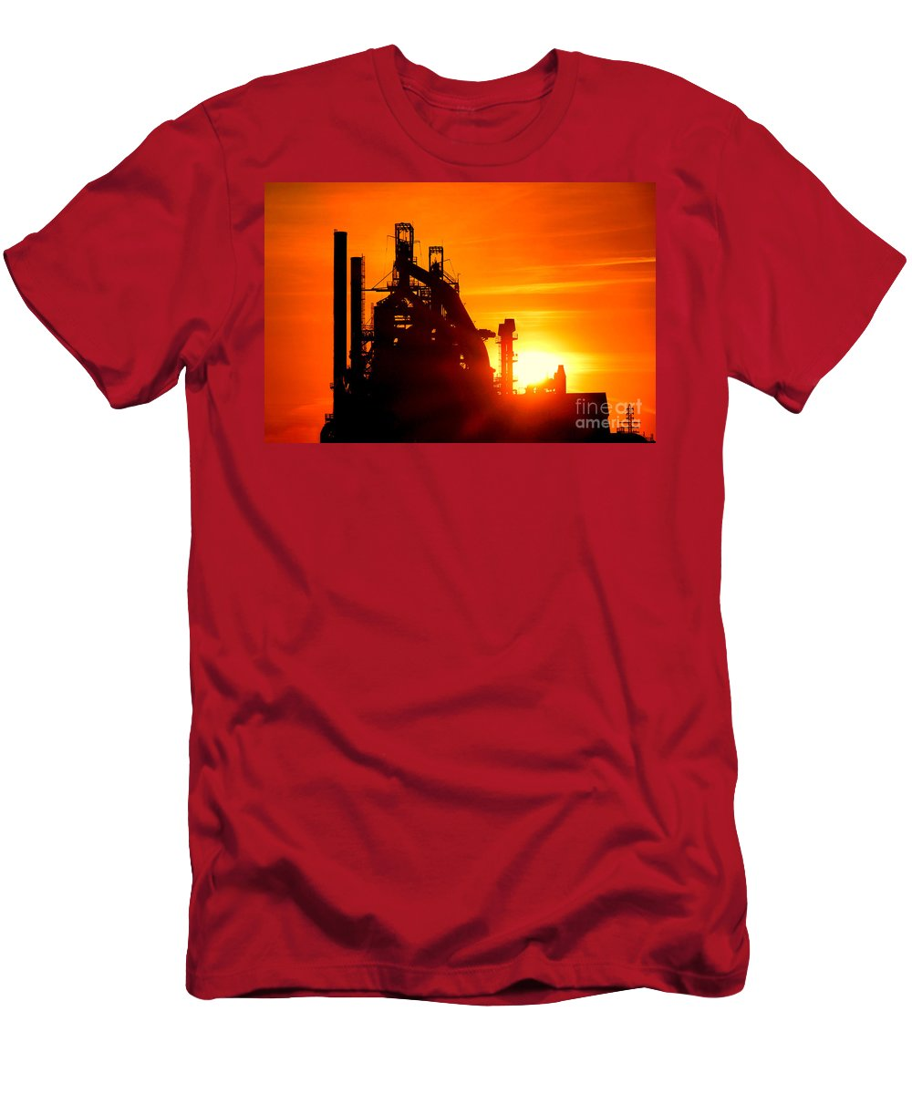 Bethlehem Men's T-Shirt (Athletic Fit) featuring the photograph Bethlehem Sunset by Olivier Le Queinec