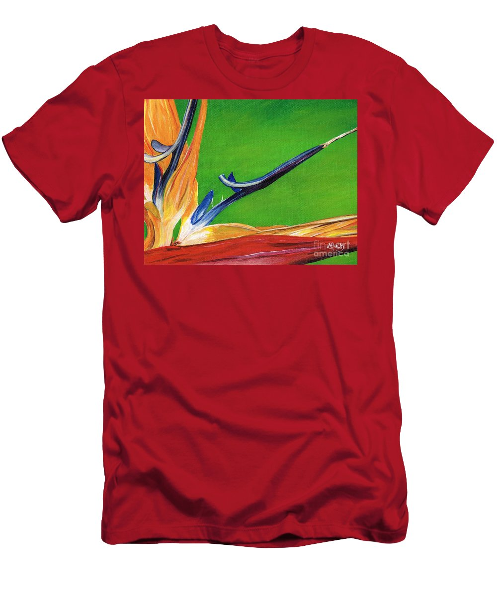 Bird Men's T-Shirt (Athletic Fit) featuring the painting Bird Of Paradise by Michelle Muck