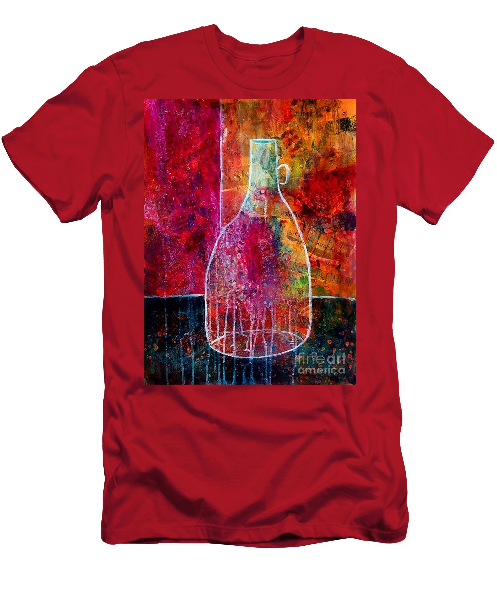 Acrylic Men's T-Shirt (Athletic Fit) featuring the painting Bistro by Donna Frost