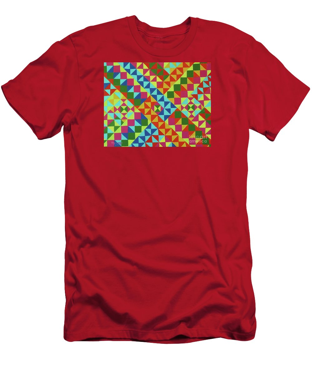 Alicia Maury Prints Men's T-Shirt (Athletic Fit) featuring the painting Blue Route by Alicia Maury