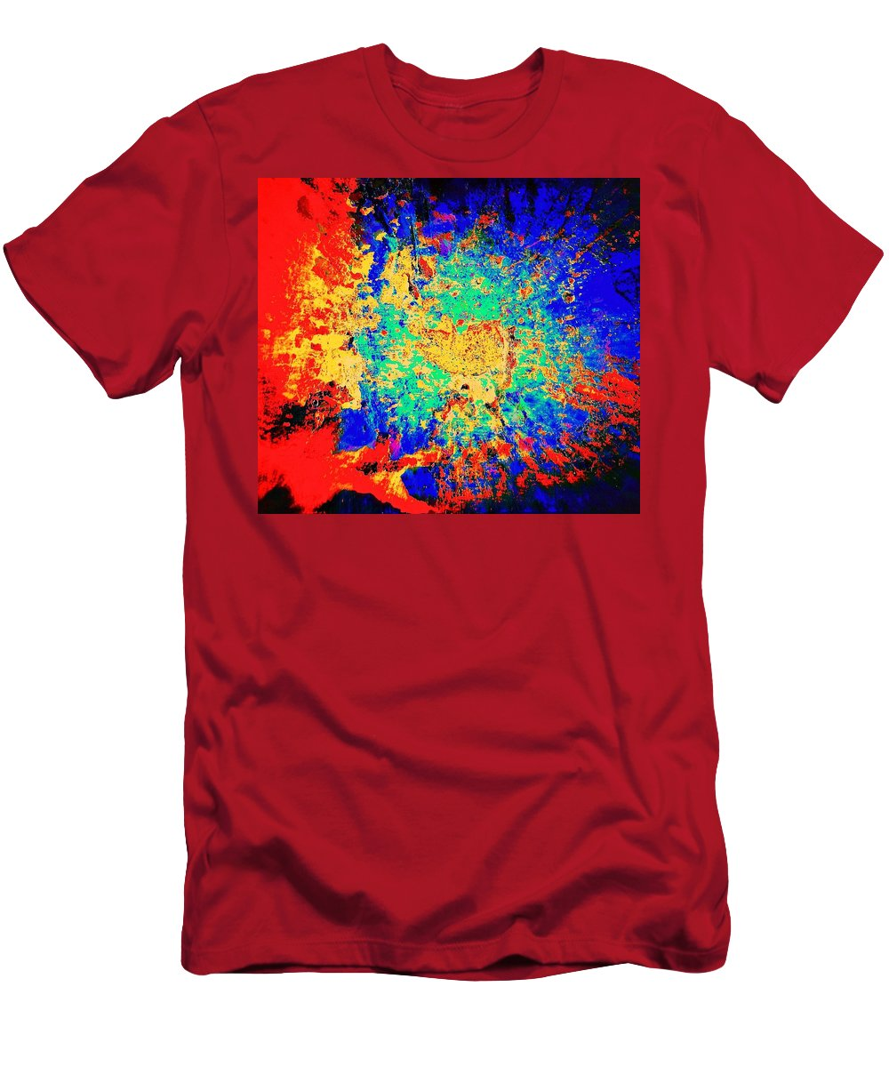 Blues Alley Men's T-Shirt (Athletic Fit) featuring the photograph Blue Sally Blues Alley by David Coleman