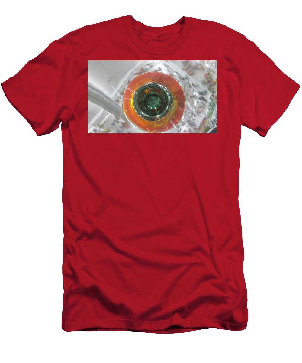 Glass Men's T-Shirt (Athletic Fit) featuring the photograph Bottoms Up 6 by Scott S Baker