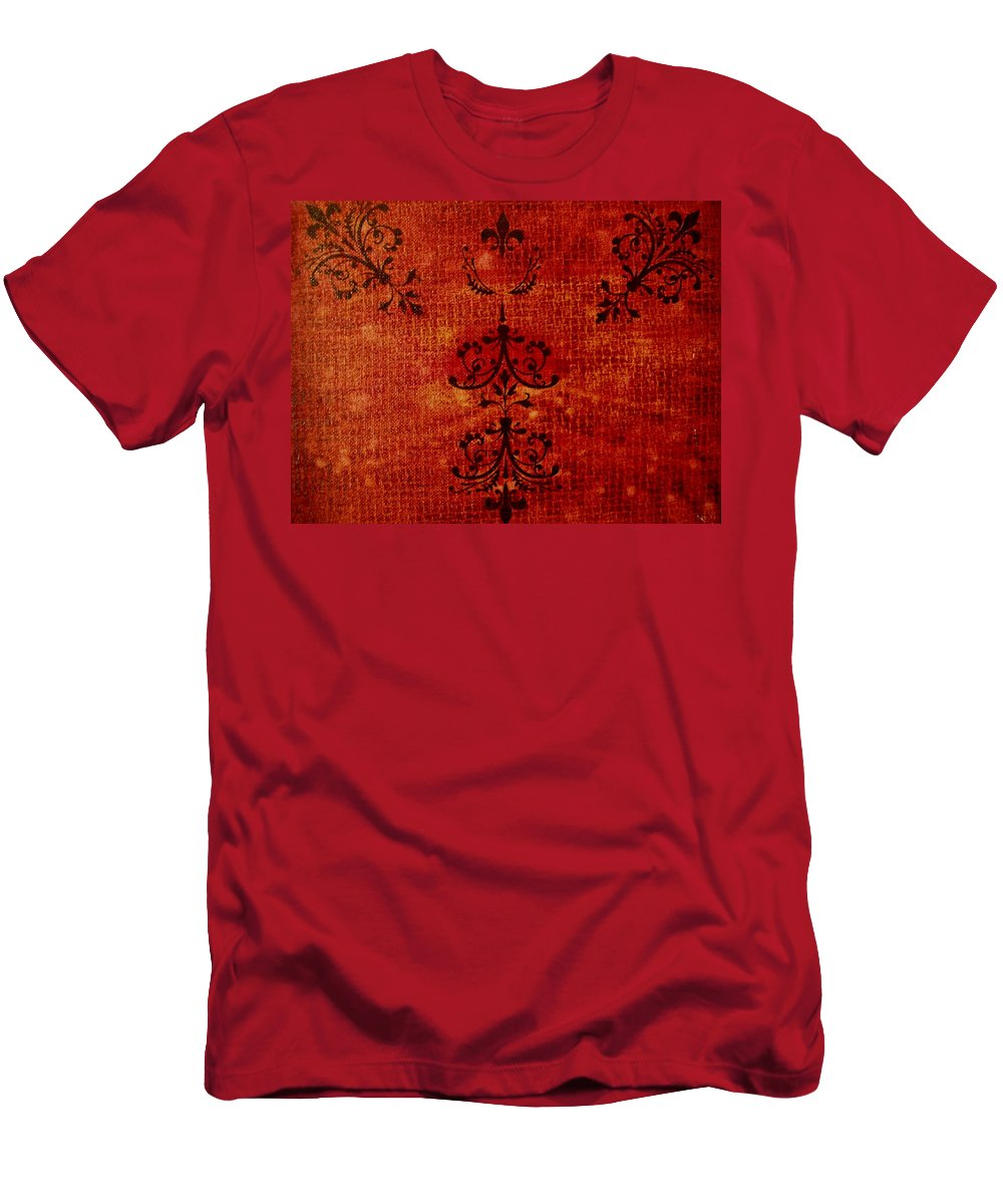 Red Men's T-Shirt (Athletic Fit) featuring the painting Boudoir Three by Laurette Escobar
