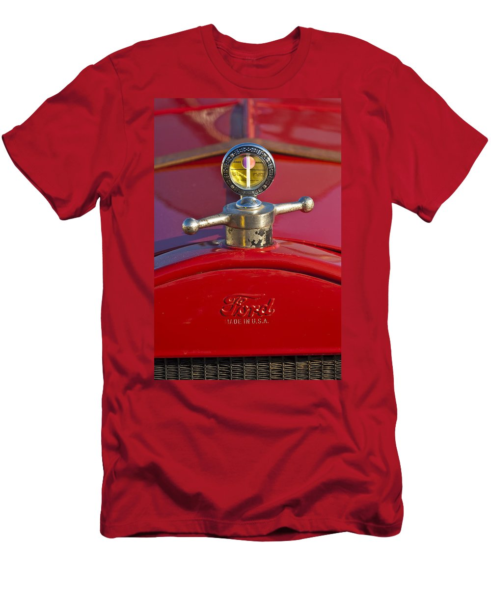 Boyce Motometer Men's T-Shirt (Athletic Fit) featuring the photograph Boyce Motometer Hood Ornament by Jill Reger