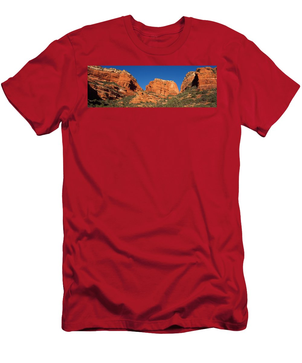 Photography Men's T-Shirt (Athletic Fit) featuring the photograph Boynton Canyon Red Rock Secret by Panoramic Images