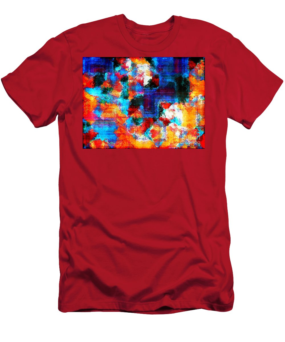 Abstract Men's T-Shirt (Athletic Fit) featuring the painting Breaking The Rules by RC DeWinter