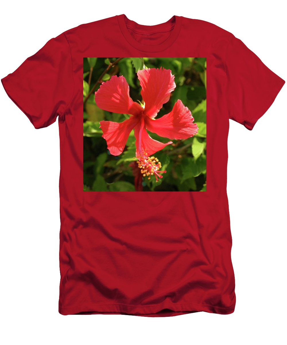 Flowers Men's T-Shirt (Athletic Fit) featuring the photograph Bright And Sunny by Bruce Gaynor