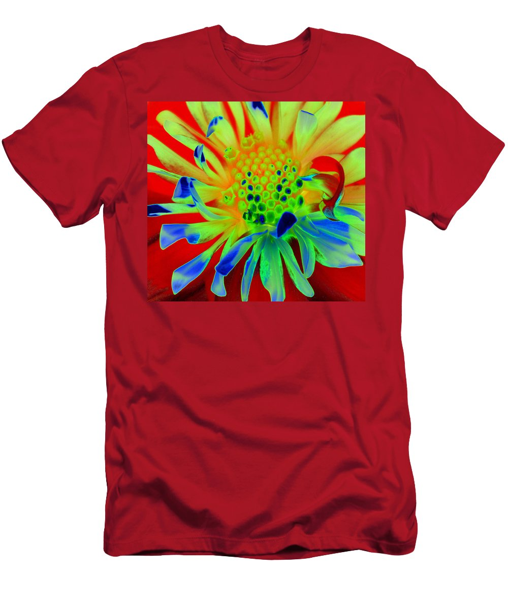 Diane Berry T-Shirt featuring the painting Bright Flower by Diane E Berry