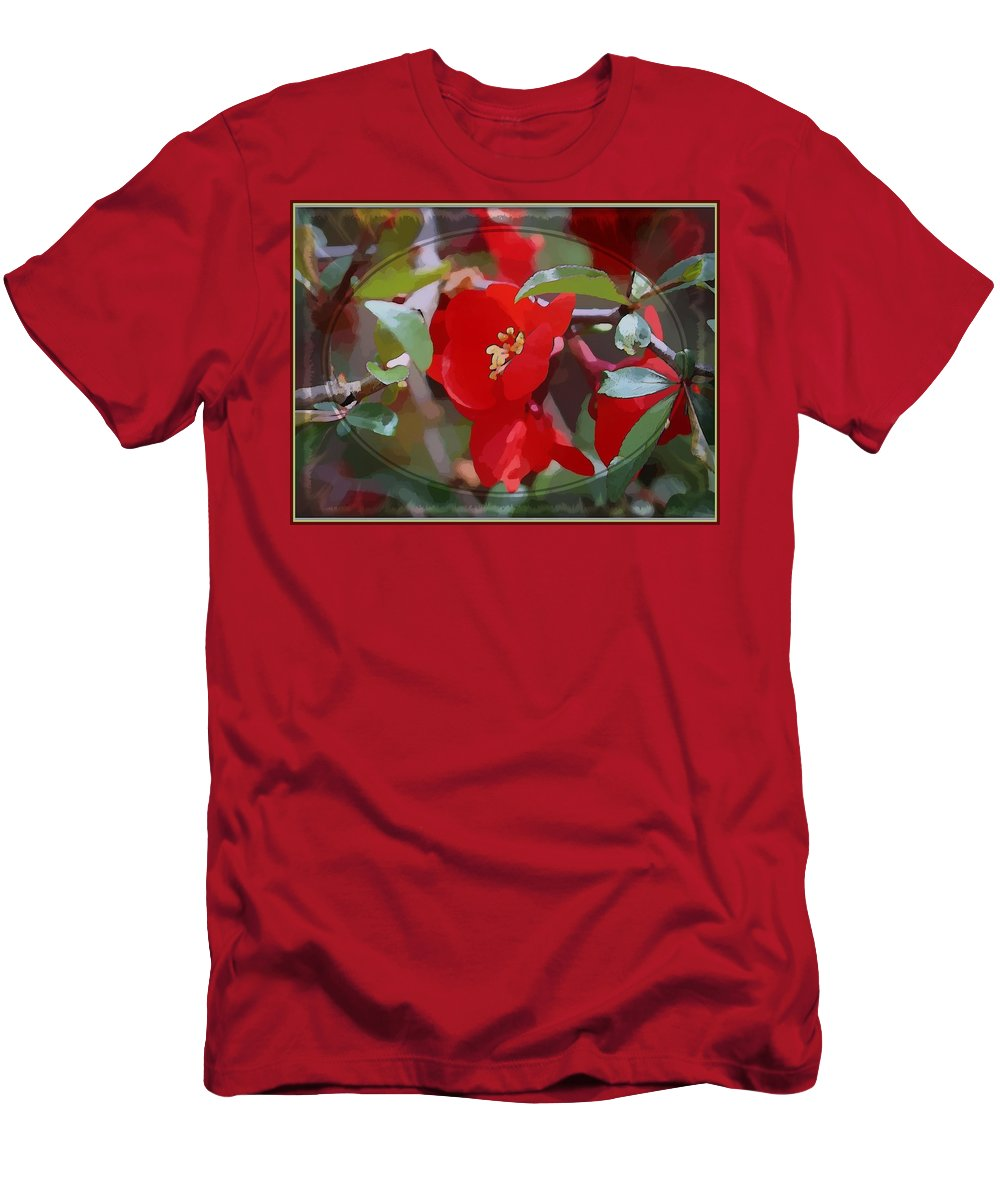 Flower Men's T-Shirt (Athletic Fit) featuring the photograph Brighter Than Spring by Mindy Newman