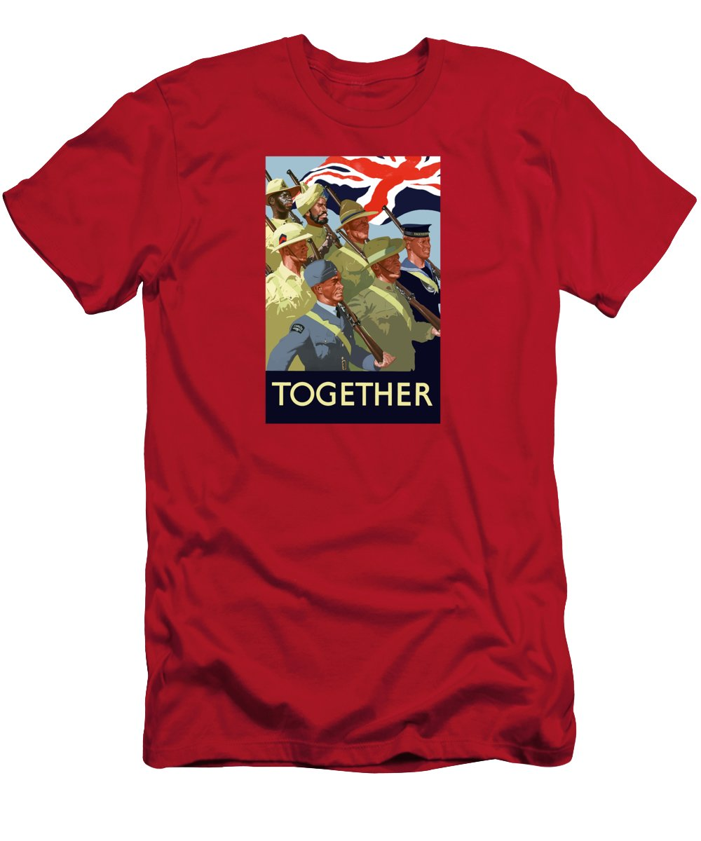 Union Flag T-Shirt featuring the painting British Empire Soldiers Together by War Is Hell Store