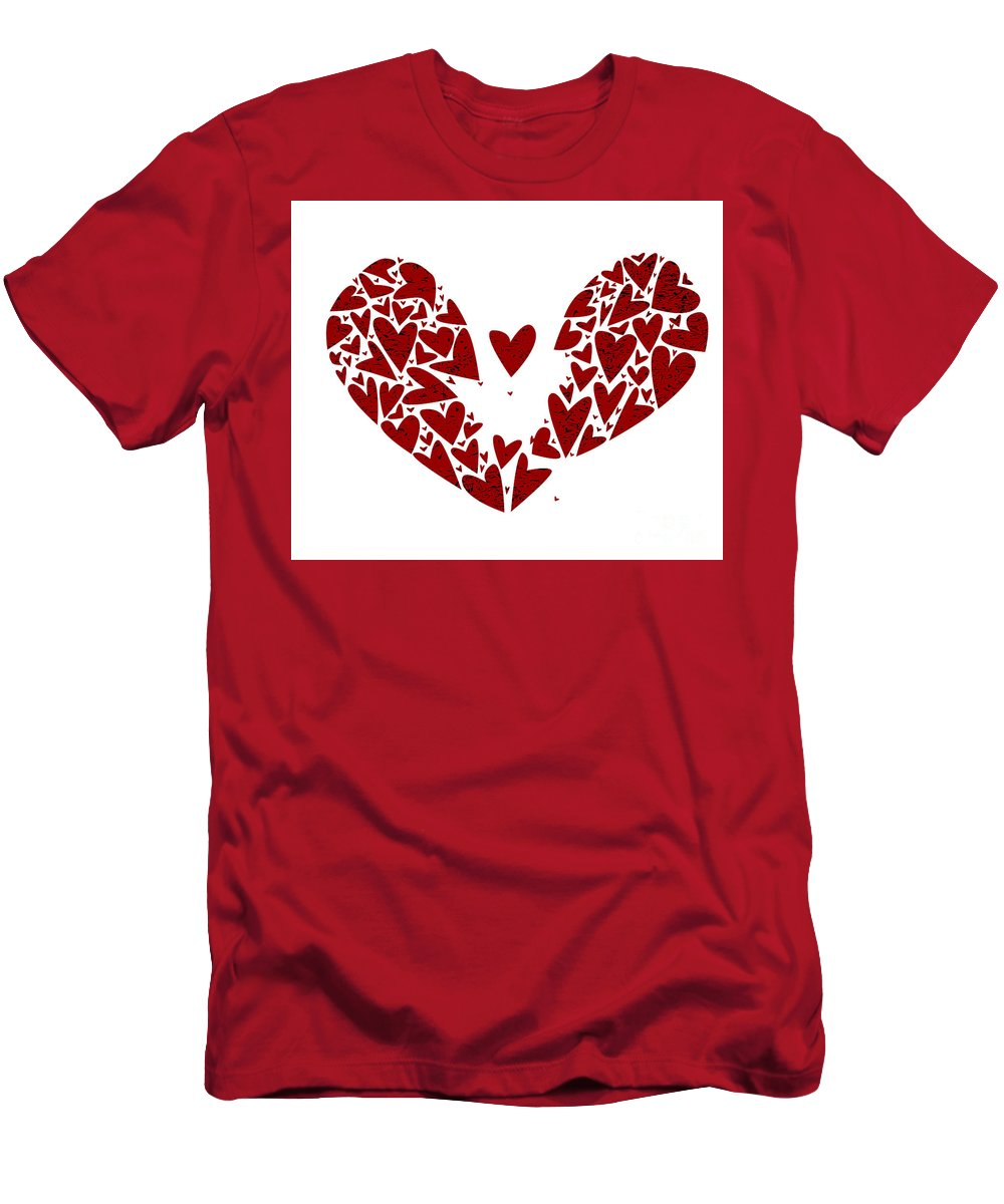 Valentines Day Men's T-Shirt (Athletic Fit) featuring the digital art Broken Heart Attack by Bigalbaloo Stock