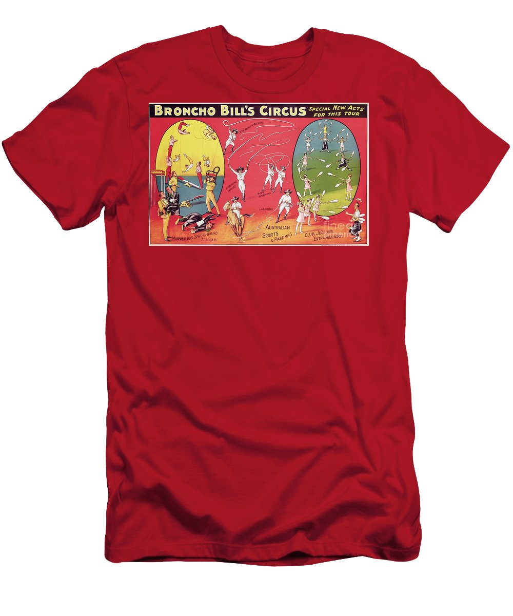 Broncho Bill's Circus Men's T-Shirt (Athletic Fit) featuring the painting Bronco Bills Circus by English School