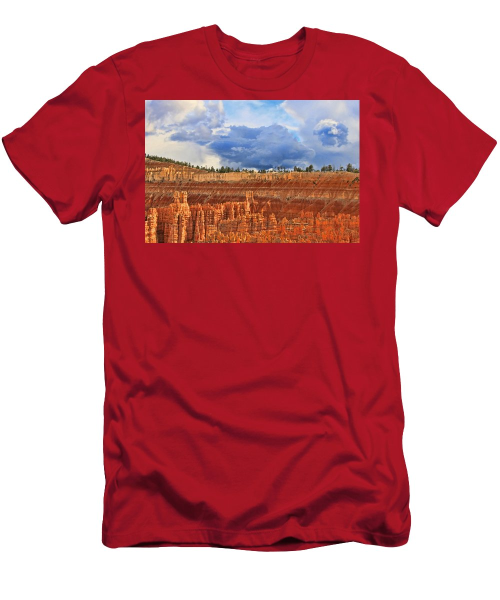 Utah Men's T-Shirt (Athletic Fit) featuring the photograph Bryce Canyon 27 - Sunset Point by Allen Beatty