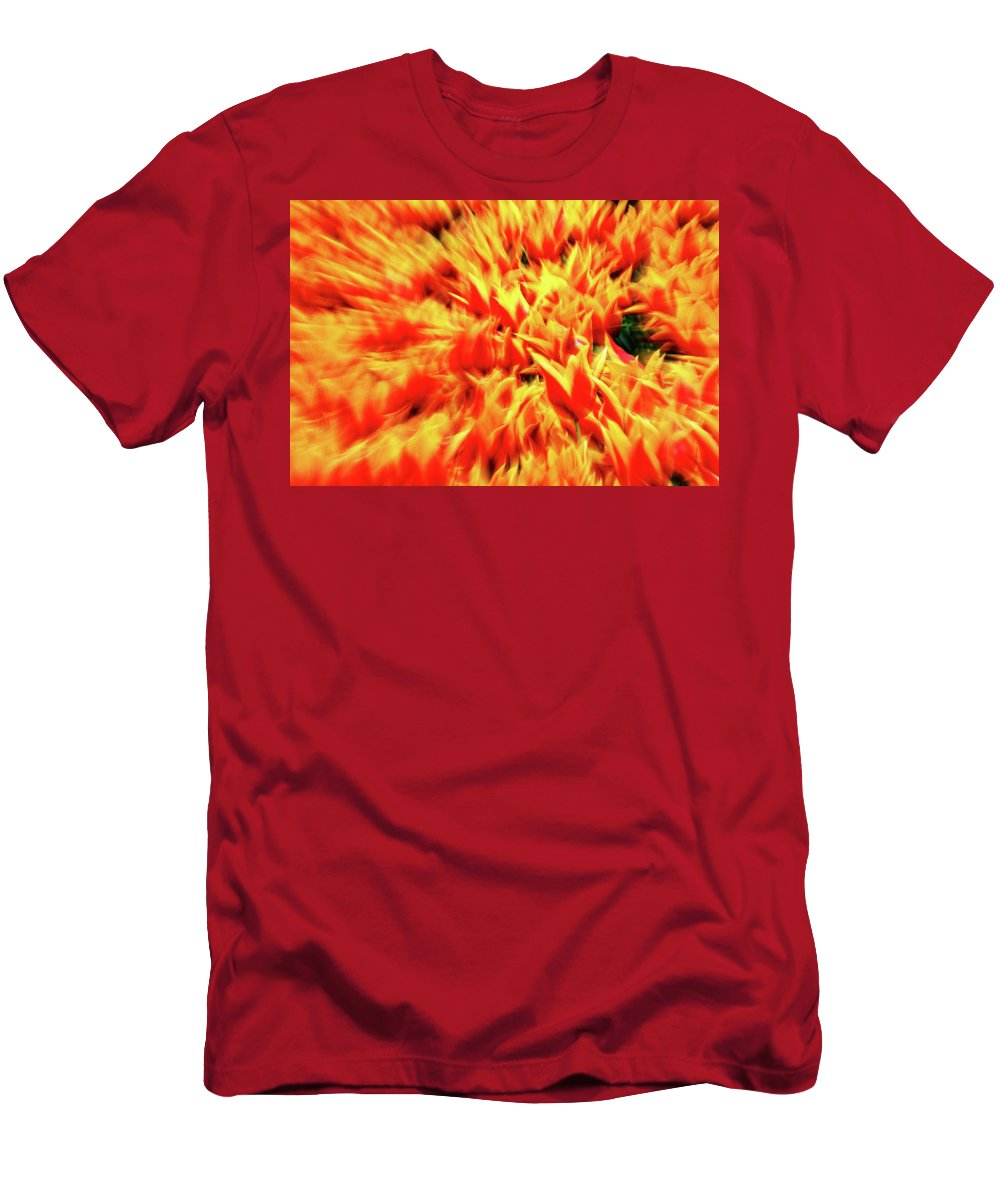 Orange Men's T-Shirt (Athletic Fit) featuring the photograph Burst Of Orange by Daniel Koglin