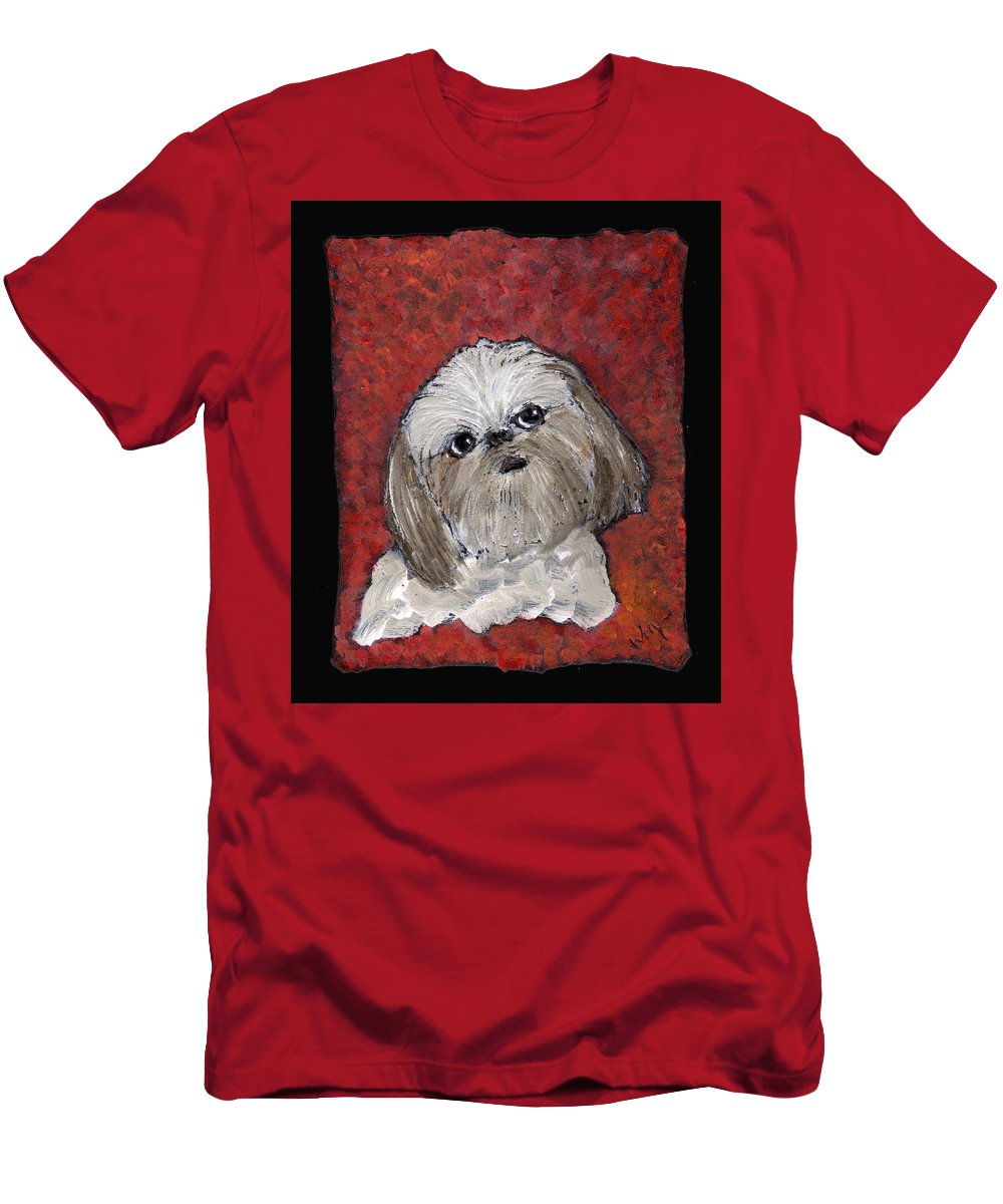 Dog Men's T-Shirt (Athletic Fit) featuring the painting Buster by Wayne Potrafka
