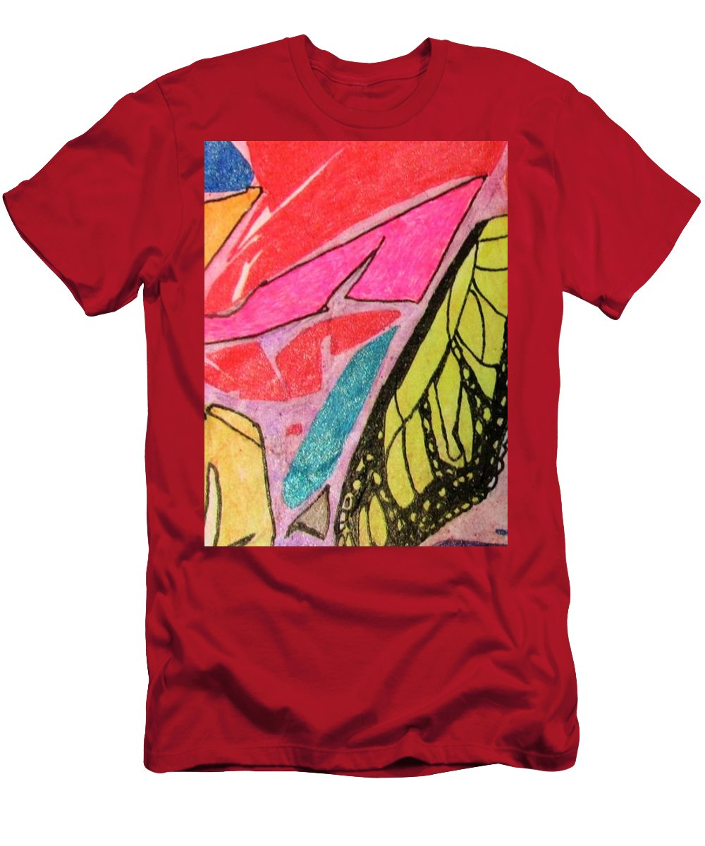 Design Abstract Elements Men's T-Shirt (Athletic Fit) featuring the painting Butterfly Wing by Hal Newhouser
