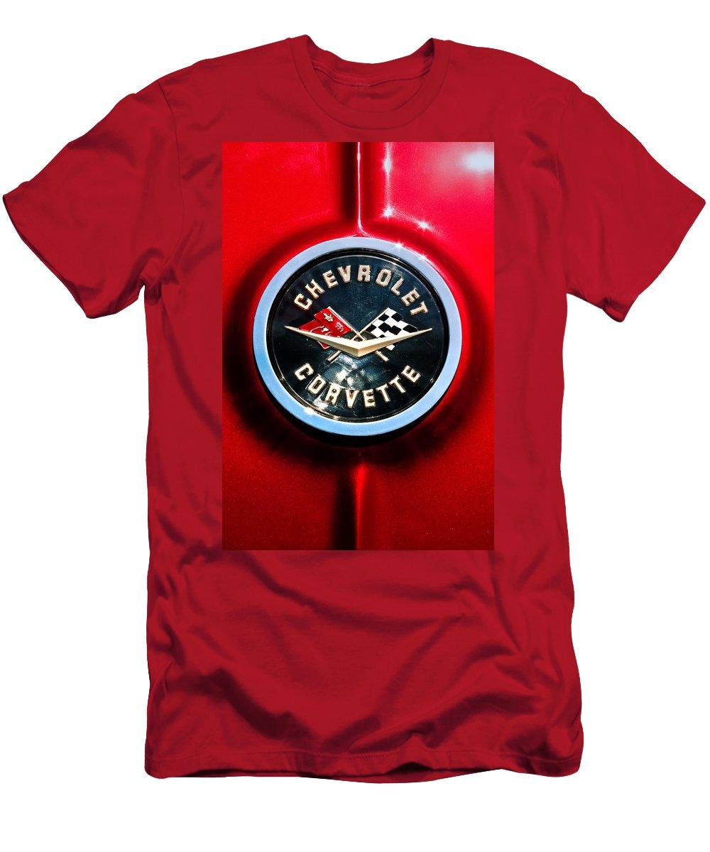 Corvette Men's T-Shirt (Athletic Fit) featuring the photograph C2 Corvette Logo by Scott Wyatt