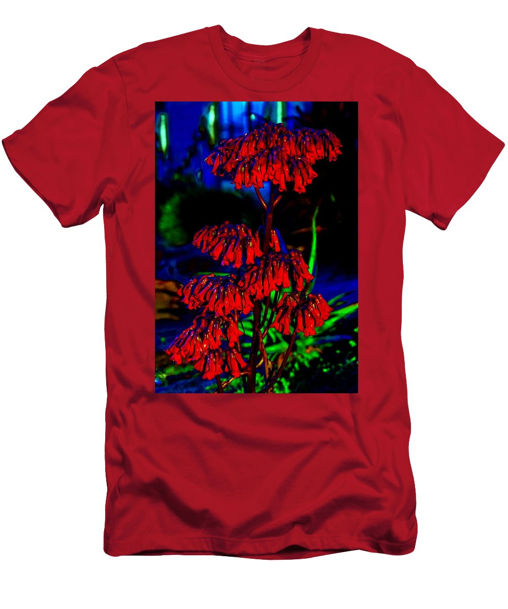 Cactus Men's T-Shirt (Athletic Fit) featuring the photograph Cactus Buds by John R Williams