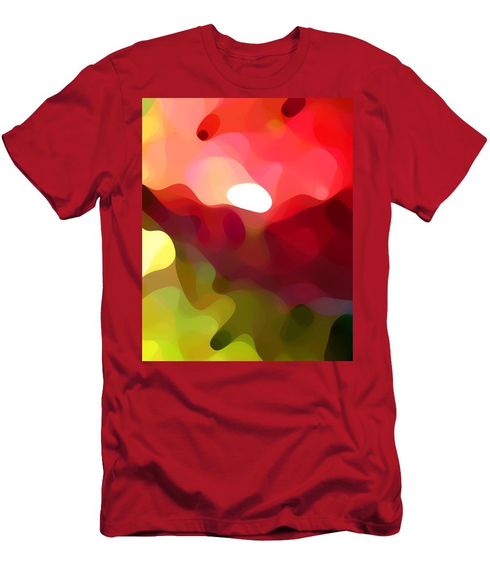 Abstract Art Men's T-Shirt (Athletic Fit) featuring the painting Cactus Resting by Amy Vangsgard