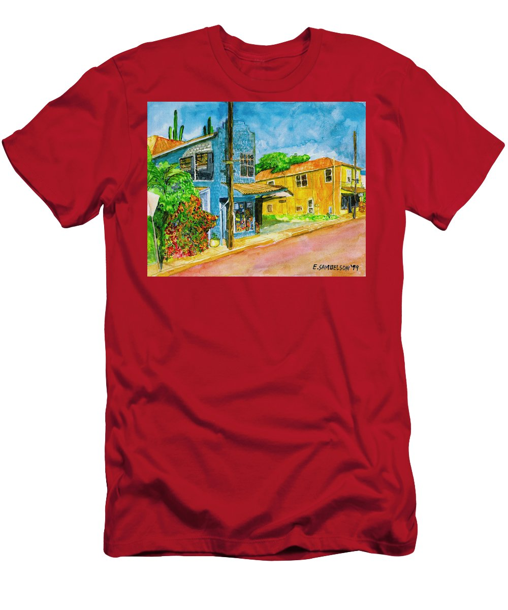 Camille Fountaine Men's T-Shirt (Athletic Fit) featuring the painting Camilles Place by Eric Samuelson